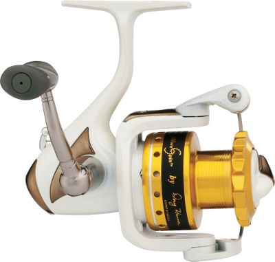 Fishing WaveSpin reels are engineered to deliver a lifetime of tangle-free fishing and longer, more accurate casts. Fewer tangles means more time spent fishing and more fish caught. The Exclusive WaveSpin spool features guaranteed no-tangle technology for longer casts and less kinks. Unlike round spool tops, its jagged shape prevents slack line from catching on the spool during retrieves and forming loops that lead to kinks and tangled line. Lightweight graphite body and rotor offers high-strength durability. Large multidisc front drag for stopping spool-emptying runs. Infinite anti-reverse for hard-hitting hooksets. Oversized line roller. Comfort-grip paddle handle. Convertible left- or right-hand retrieve. Convenient never-fail line clip. - $69.88