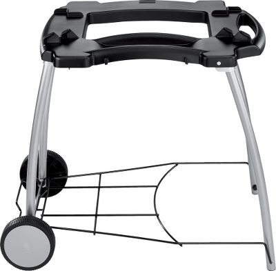 Camp and Hike Featuring a proprietary quick-folding design, this cart can be used as a grill stand or caddy to transport your Weber Q grill. Wheels make it easy to move and transport. It fits Weber Q 100 and 200 series grills.Dimensions: 31.5H x 20.9W x 5.7D.Weight: 16 lbs. - $59.88