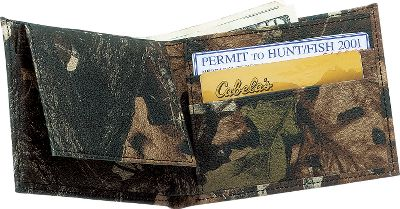 Hunting Capture the spirit and ruggedness of the great outdoors with these camo wallets. The rich 2-1/2-oz. genuine cow leather is permanently printed with popular camouflage patterns through a revolutionary heat and pressure process. Full-length bill divider, seven total pockets and a removable credit card/ID holder. Dimensions: 4.5 L x 3.5 W x .75 D. Camo patterns: Advantage Timber, Mossy Oak Break-Up, Realtree Hardwoods Green HD. Size: One Size. Color: Camouflage. Gender: Male. Age Group: Adult. Pattern: Printed. Material: Leather. Type: Wallets. - $29.99