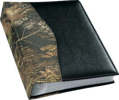 "Fishing Display your favorite memories with an added touch of style that reflects the rugged nature of the outdoors. This photo album is crafted of rich 2-1/2 oz. genuine cow leather that's been camouflage-printed. The Mossy Oak Break-Up and Advantage MAX-4 HD albums are accented with black, while the Advantage Timber album is accented with brown. Each holds up to 100 4"" x 6"" photos to keep track of your hunting and fishing memories. Size: 6-3/4"" x 5-1/4"".Camo patterns: Mossy Oak Break-Up , Advantage Timber , Realtree MAX-4 . - $29.99"