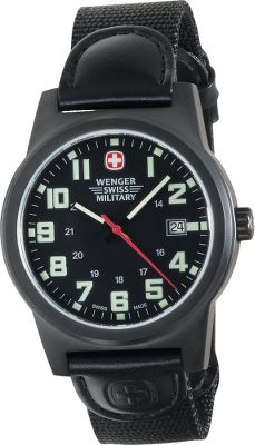 The Swiss are legends when it comes to timepieces, and Swiss-made Military Field Watches carry on that tradition. They are water-resistant to a depth of 330 ft. Quick, easy-to-read date display. The luminous hands, numerals and markers recharge their luminosity after brief exposure to light. Durable fabric straps with rugged metal cases and crystal clear displays. Case diameter: 1.5. Color: White Face. Color: White Face. Gender: Male. Age Group: Adult. - $174.99