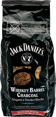 Camp and Hike Where do the Jack Daniels white oak barrels go after they age Jack Daniels whiskey? If youre lucky, theyll go inside your grill. The secret ingredient will add a succulent whiskey taste to your barbecue. Compatible with smokers, gas grills and charcoal grills. Approximate weight: 2.75 lbs. Color: Charcoal. - $9.99