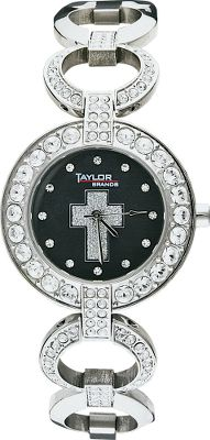 The Western Edge Cross Watch is unique timepiece that reflects the Western lifestyle at its finest. Swarovski crystals set in a stainless steel band and case. Silver, glitter-painted cross contrasts brilliantly against the black painted background. Precise Japan movement maintains accuracy.Case diameter: 32mm. - $69.99