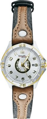 Western Edge Womens Horseshoe Watch is a unique timepiece that reflects the Western lifestyle at its finest. Swarovski crystal horseshoe dial, genuine-leather band and two-tone plating add distinctive flare. Stainless steel case maintains its exceptional looks year after year. Precise Japan movement maintains accuracy.Case diameter: 28.5mm. - $59.99