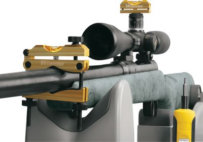 Precision leveling system aligns firearm scopes for accurate, error-free shooting. Anodized-aluminum construction, factory-adjusted calibration set screws and a protective molded case provide long-lasting durability.Two machined-aluminum level housings. Barrel-clamp level with tuning adjustment knob. Imported. - $49.99