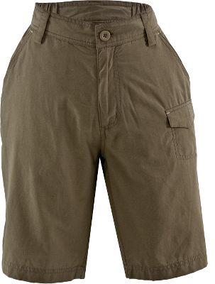 The perfect shorts for your far-from-home adventures. Crafted of durable and quick-drying poplin, these shorts feature a hook-and-loop security pocket ideal for holding your hotel key. Comfort-fit, back elastic delivers comfort at waist. Contrasting bartacks deliver long-lasting durability. 70/30 cotton/nylon. Imported. Inseam: 9. Sizes: S-3XL. Colors: Breen, Bark, Stone. Size: Small. Color: Breen. Gender: Female. Age Group: Adult. Material: Cotton. - $9.88