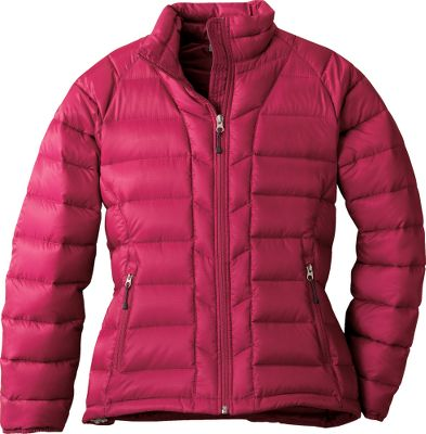 "Goose down keeps you warm on chilly winter days. 100% polyester ripstop shell is quilted for added eye appeal and to maintain its high loft. The packable jacket stows away in its own pocket for easy transport on backpack trips. Zip-close front pockets. Imported. Center back length: 24.5"". Sizes: S-XL. Colors: Black, Sangria, Gecko. - $59.88"