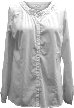 This button-up is available in two unique fabrics: pigment-dyed, cotton/polyester burn-out weave and silky, woven-cotton gauze. Both fabrics are enzyme washed for supreme softness. Imported.Sizes: S-XL.Colors: White, New Sage, Ice Blue, Wheat (burn-out fabric). - $9.88