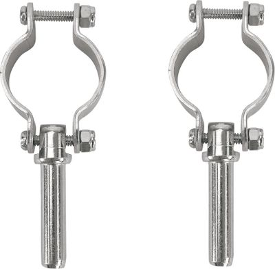 Motorsports Chrome-plated zinc construction for weather-resistant durability in freshwater. Per two. Available: Clamp-on oarlocks Round oarlock horns 1/2 top-mounted sockets Type: Oarlocks and Sockets. Clamp-On Oarlocks. - $13.99