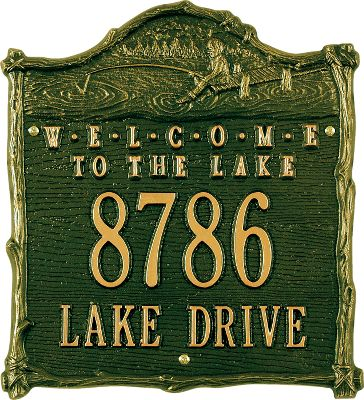 Camp and Hike Enhance your curb appeal with an elegant, artistic address sign. Weather-resistant finish withstands the elements for years of outdoor display. Handcrafted from recycled, rust-free aluminum. Allow two weeks for shipping. Made in USA. Dimensions: 12 x 11. Colors: Green, Gold, Copper. Item note: First line holds up to five 3' characters. Second line holds up to twelve 1-1/4 characters. Color: Copper. Gender: Male. Age Group: Kids. Type: Signs. - $69.99