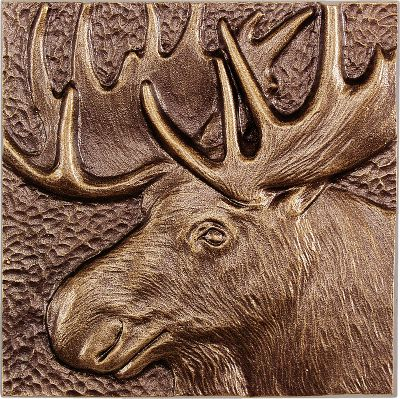 Camp and Hike The best way to spot a moose is to contain it in an area where you can keep a watchful eye. This wall dcor is waiting for you to do just that. Handcrafted from recycled, rust-free aluminum. Weather-resistant finish withstands the elements for years of display. Please allow two weeks for shipping. Made in USA. Dimensions: 8 x 8 x 1 . Colors: Antique Copper, French Bronze. Size: FRENCH BRONZE. Color: Bronze. Type: Wall Decor. - $24.99