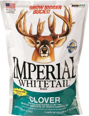 Hunting A high-yielding clover blend formulated specifically for whitetails and wild turkeys. It far exceeds the protein levels of most other plants, based on average annual protein levels and availability of plants. Jump Start quick-growth produces early growth. Plant in the spring no deeper than 1/4 in areas with four to six hours of sunlight. Produces year-round for up to five years. Available: 18 lbs. plants 2-1/4 acres. Type: Food Plots. - $149.99