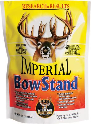 Hunting Contains 12 exclusive seed varieties combined with several brassica-type plants. Its enhanced with a soil pH booster allowing faster development and more attractiveness in slightly acidic soils. Draw deer in early and keep them coming through the late season. Available: 4 lbs. plants 4,500 sq. ft. - $19.99