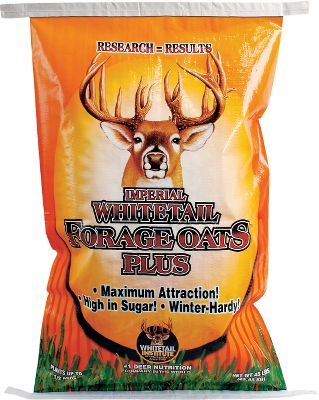 Hunting High-sugar, cold-tolerant forage oats establish quickly and hold deer on your property longer into the winter months. Includes small amounts of winter wheat and triticale to enhance winter hardiness. Thrives in a wide range of soil, from slightly sandy to heavy bottomland. Available: 45 lbs. plants 1/2 acre. - $39.99