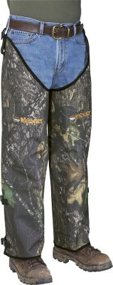 Hunting Field-tested and proven to provide excellent protection from snake bites, these punctureproof chaps are a must when hunting in snake country. Built of 900-denier polyester oxford material with PVC finish. Chaps offer knee-high protection for your legs with adjustable inseam straps. Husky chaps fit thighs to 28. Imported. Sizes: Short (25-28 inseam), Regular (29-32 inseam), Long (33-36 inseam). Camo patterns: Mossy Oak New Break-Up, Realtree AP. Size: REGULAR. Color: Realtree Ap Hd. Gender: Male. Age Group: Adult. Material: Polyester. Type: Chaps. - $79.99