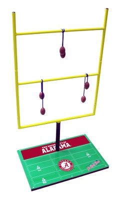 "Camp and Hike One of America's No. 1 selling football games just got better. Now, it's completely portable with a nylon carry bag for all your road games. This exciting game is meant for the whole family to enjoy. Players toss bolos at the goal rungs and score points for each bolo that lands on a rung. Includes a set of instructions, six football bolos (two sets of three) and two metal goal posts Dimensions: 50""H x 25""W. Available:Alabama,Arkansas,Arizona,Arizona State,Auburn,Boston College,Boise State,Clemson,Colorado,UConn,Duke,Florida,Florida State,Georgia Tech,Georgia,Iowa State,Illinois,Indiana,Iowa,Kansas,Kentucky,Kent State,Kansas State,Louisville,Louisiana State,Maryland,Michigan,Minnesota,Michigan State,Montana,Mississippi State,North Carolina,North Carolina State,Notre Dame,Nebraska,Northwestern,Ohio,Oklahoma,Ole Miss,Oregon State,Ohio State,Pitt,Penn State,Purdue,South Carolina,South Florida,Southern Mississippi,Syracuse,Tennessee,Texas,Texas Tech,Texas AUCLA,Utah,Vanderbilt,Virginia,Virginia Tech,Washington,Washington State,Wisconsin. - $119.99"