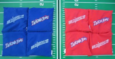 Camp and Hike Extra set of eight tailgate-toss beanbags. Each bag weighs 12 oz. Type: Outdoor Games. Red/Blue. - $24.99