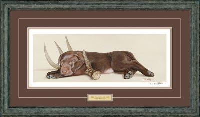 A Larry Beckstein signature edition. Rustic driftwood molding; double matted with brass nameplate. Wild Wings exclusive.Image dimensions: 6-1/2H x 18W.Frame dimensions: 16-1/2H x 28-3/4W x 1-3/8D. - $129.99