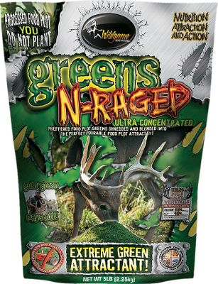 Entertainment Extreme green attraction. Like having a food plot in a bag, this processed supplement is made of real greens containing 15 protein and 10 fat. 5-lb. bag. Color: Green. Type: Deer Attractants. - $8.88