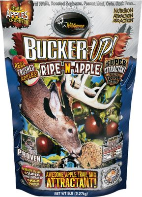 Hunting Combines the taste of real crushed apples, nutritional rice bran, molasses, corn, soybean meal and oats. Fortified with vitamins and minerals necessary for optimum herd health and antler growth. Use it by itself or mix with other feeds. 17 protein, 13 fat and 12 fiber. 5-lb. bag. - $5.88