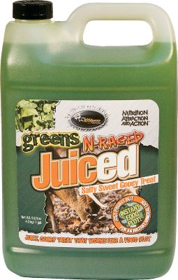 Hunting The deer-pleasing flavors of proven-effective Greens N-Raged powder in a convenient, concentrated, long-lasting, liquid-gel form. Per one-gallon jug. Type: Deer Attractants. - $3.88