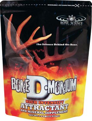 Hunting A powerful deer attractant and mineral supplement made from nutritious plants with 16% protein for improved antler growth in bucks and lactation in does. Size: 7-1/2 lb. bag. Type: Deer Attractants. - $5.88