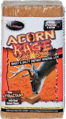 Hunting The irresistible taste and smell of acorns sweetened with molasses. Extra punch of calcium and phosphorus provides the mineral nutrients needed to keep deer, moose and elk coming back for more. Size: 4-lb. block. Type: Deer Attractants. - $4.99