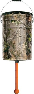 Hunting Foolproof simplicity and ease with no electronics, no batteries and no-hassle setup. Animals release feed by nudging the feeder plate. Rugged 6-12-gallon hanging pail. Camo pattern: Realtree APG Color: Camo. - $26.88