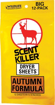 Hunting Scent Killer's Autumn Formula adds a subtle scent of the forest floor to your hunting clothes. Resealable package. Per 12. Type: Dryer Sheets. - $3.99