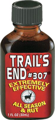 Hunting Trail's End #307 formula appeals to deer's curiosity and sex drives. It can be used for scent wicks or boot pads. Available 1-oz., 4-oz. bottles. Size: 1 OZ. Type: Lures/Attractants. - $8.49