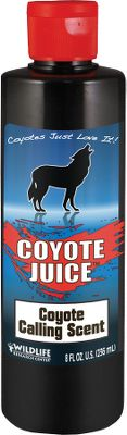 Hunting Just as when closing in on live prey, coyotes and other predators commonly circle and approach calling setups from downwind. Wildlife Research Centers high-quality Coyote Juice will make your calling setup more realistic as it appeals to their territorial, curiosity and hunting instincts. Available: 8-oz. squirt-top bottle. Color: Coyote. - $6.88