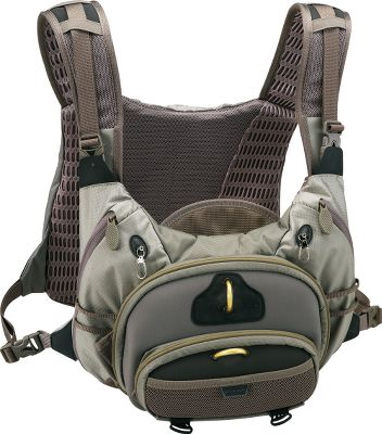 Flyfishing Packed with comfort-enhancing technology and cargo-friendly features. Carry and manage more gear with air-track suspension, adjustable shoulder straps and dual fold-down workstations. Features 10 pockets. Imported. Dimensions: 20H x 12.5W x 8D. Capacity: 2,000 cu. in. Weight: 2.1 lbs. Size: CONFLUENCE CHEST. Gender: Male. Age Group: Adult. - $179.99