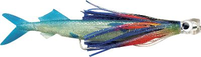 Fishing The added scoop-head Sailfish Catcher adds the attraction of smoke and bubble trails to the Ballyhoo. The combination is irresistible to dorado, tuna, yellowfin, sailfish and smaller billfish. Rigged with 6 ft. of 100-lb. test line. Per each. Size: 10-1/2. Colors: (001)Lumo/Black, (002)Natural Bally, (531)Halloween/Blue, (532)Hot Pink/Blue, (533)Black/Purple/Black, (534)Bonito/Blue, (535)Evil/Black. Size: 10.5. Color: Pink/Blue. Type: Offshore Trolling. - $12.99