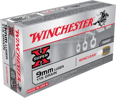 Great for indoor ranges and other environments where clean-shooting ammunition is required or desirable. This innovative ammunition is loaded with brass-enclosed-base bullets to minimized emission of lead vapors on impact. It features renowned Winchester reliability and accuracy in high-velocity rounds that wont leave lead deposits in your barrel. Proven reliable in semiautomatic pistols and revolvers alike. - $18.99