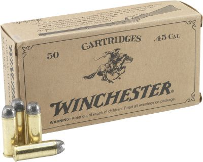 Guns and Military Great ammunition for cowboy action shoots and target shooting. Developed with controlled recoil for enhanced accuracy. Loaded with 250-grain lead round-nose bullets. Gender: Male. Age Group: Kids. Type: Centerfire Handgun Ammunition. - $38.99