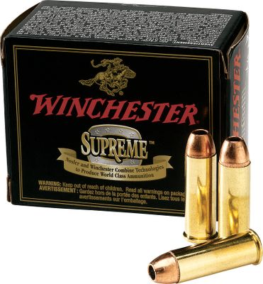 Shoot Winchester's best, most technologically advanced handgun ammo in your sidearm. Choose the proven expansion performance of Partition Gold bullets, or the devastating energy delivery of Platinum-Tip Hollow-Point bullets. Per 20. - $64.99