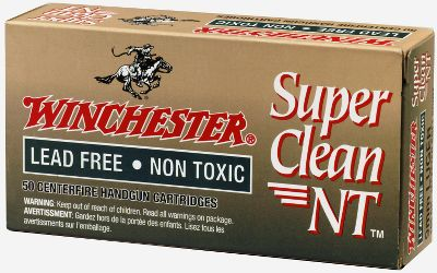 For consistent non-toxic accuracy and performance, trust Winchester Super Clean NT. Built indoor-range-friendly from the base up, starting with a lead- and heavy-metal-free priming mix. The premium boxer-type primers also feature nickel-plated cups. The powder is exceptionally clean-burning with minimal flash. These brass-cased 9mm Luger Super Clean NT rounds are topped off with 105-gr., tin-core, jacketed soft points that are 100 lead free. Per 50 rounds. - $45.99
