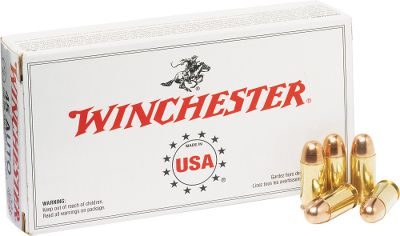 Guns and Military Heres a great value in new manufacture ammunition. Enjoy Winchesters excellent accuracy and reliability in clean-shooting 230-gr. FMJ rounds of .45 ACP and save when you buy in bulk. These rounds are made in America using top-notch components. At this price, youll want to stock up on great ammunition. Made in USA.Available: 300 rounds, 1 Dry-Storage box 600 rounds, 1 Dry-Storage box 1200 rounds, 2 Dry-Storage boxes Bullet Weight: 230 Grain. Type: Centerfire Handgun. Caliber: .45 Auto. Bullet Type: FMJ. Cal/Gaug 45auto230g Fmj1200bx. - $619.99