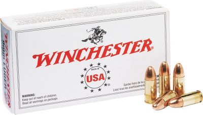 An outstanding value for new manufacturer ammunition. Winchesters renowned accuracy and reliability in clean-shooting rounds loaded with 115-gr. full metal jacket bullets. Top-notch ammo at an affordable price. Made in USA. Available: 300 rounds plus one Dry-Storage Box 600 rounds plus one Dry-Storage Box 1,200 rounds plus one Dry-Storage Box Bullet Weight: 115 Grain. Type: Centerfire Handgun. Caliber: 9 mm. Bullet Type: FMJ. Cal/Gaug 9mm 115gr Fmj1200box. - $369.99