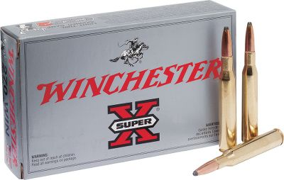 Hunting Super-X ammo has been known for dependable accuracy and knockdown power since its introduction in 1922. Its made using quality components to deliver consistent performance. Loaded with 150-gr. Power-Point bullets, this new manufacture ammunition will handle most big game in North America.Available: 200 rounds 150-gr. PP and one Dry-Storage box. Type: Centerfire Rifle. - $214.99