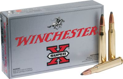 Hunting The soft-nosed, jacketed, rapid-expansion design of the 150-grain Power-Point bullet makes this Super-X .30-06 ammunition from Winchester ideal for deer, antelope and similar-sized game. It consistently delivers the performance that hunters demand with accuracy and reliable knock-down power. New manufacture. Receive a new Dry-Storage Box, a $14.99 value, with every bulk purchase. Available:100 rounds of 150-grain Power-Point and one dry box200 rounds of 150-grain Power-Point and one dry box - $104.99