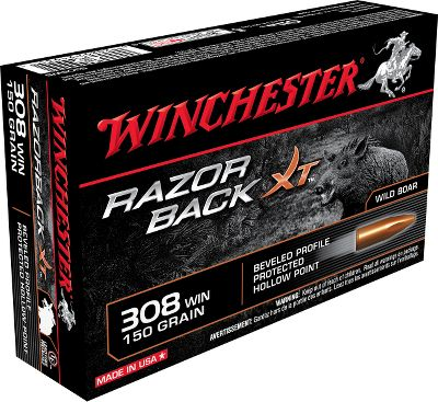 Hunting The worlds first cartridge specifically designed for wild-hog hunting. Made of solid gilding metal, this lead-free, beveled-profile, hollow-point bullet is built to rip through the thickest hog hide. Its delayed expansion delivers the terminal damage needed to get the job done. Flash-suppressed powders make this rifle ammo perfect for use in low light or after-dark hunts. Per 20. Type: Centerfire Rifle Ammunition. - $32.99