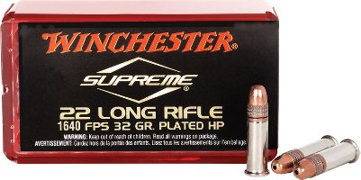 Whether youre plinking, hunting or target shooting, Winchesters wide variety of .22 Rimfire Ammunition has all your needs covered. Their ammunition has been proven in fields and ranges across the world since 1866 and is trusted by shooters to deliver consistent, reliable performance. - $16.99