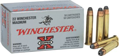 The .22 magnum is a great choice for small game, varmints and plinking fun. This round is loaded by Winchester with 40-gr. JHP bullets and boasts 1,910-fps muzzle velocity. Save big when you buy in bulk. With every bulk purchase, receive a NEW Dry-Storage Box, a $14.99 value.Available:Per 250 1 Dry BoxPer 500 1 Dry Box - $59.99