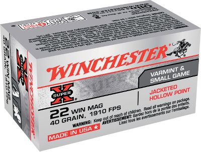 The .22 magnum is a great choice for small game, varmints and plinking fun. This round is loaded by Winchester with 40-gr. FMJ bullets and boasts 1,910-fps muzzle velocity. Save big when you buy in bulk. With every bulk purchase, receive a NEW Dry-Storage Box, a $14.99 value.Available:Per 250 1 Dry BoxPer 500 1 Dry Box - $59.99