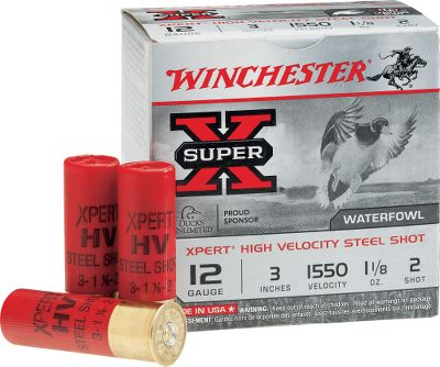 Guns and Military Winchester has combined their proprietary corrosion-resistant steel shot manufacturing process with superior Winchester components to create a true high-performance, value-priced steel shot load. With velocities of up to 1,625 feet per second, these shells will meet all your waterfowl needs without putting a crimp on your budget. Per 10 boxes, 25 shells per box. Type: Steel. - $114.99