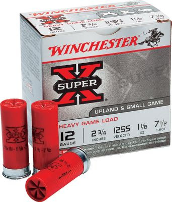 Hunting If hunting doves, quail and other small, fast-moving game birds is your passion, chances are youll go through a lot of shells before the hunting seasons end. Be ready this year with a case or two of 2-3/4 Winchester Super-X Heavy Game Load shotgun shells. And were offering this ammunition at a special sale price while supplies last, so stock up now. Per 10 boxes, 25 shells per box. Type: Lead. - $69.99