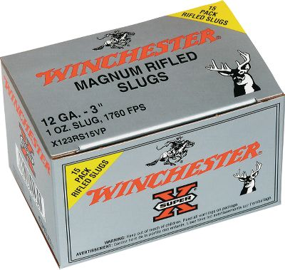 Guns and Military These devastating Super-X 12- and 20-gauge loads push Power Point rifled slugs at rumbling velocities up to 1,760 fps. The 15-round Value Pack puts 50% more of this deadly slug-gun ammunition at your fingertips for freezer-filling results. Type: Slugs. - $12.99