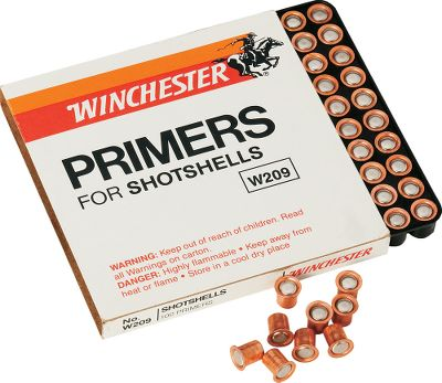Hunting Winchester No. 209 Shotshell Primers are non-corrosive, all weather primers that deliver fast, dependable ignition under any shooting situation. Constantly tested to ensure consistency and sensitivity beyond the range of normal usage. Anvil heights are measured to precise tolerances to assure perfect ignition. Per 1,000. - $25.49
