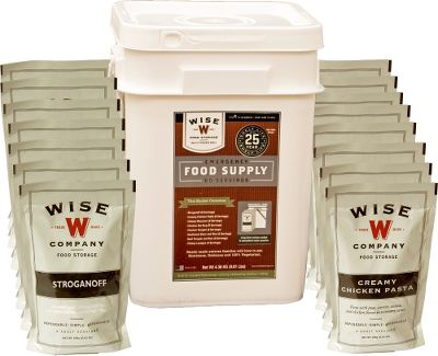 In the event of a natural disaster or other emergency, you and your familys survival depends on access to a simple, dependable food source. Stock-up for long-term survival with a ready-made, easy-to-store food kit. Four-serving meals are packaged in individual airtight, nitrogen-packed Mylar pouches that are then stored in durable, stackable plastic containers. Freeze-dried and dehydrated meals are easy to prepare just add hot water and in 10-20 minutes enjoy a delicious, nutritional meal. Shelf life of 25 years gives you added peace of mind for years to come. Kit includes 60 servings for a month of two servings per day for one adult or four adults for a week in a grab-and-go bucket. Kit Contains: Lunches/Dinners Savory Stroganoff, Cheesy Macaroni, Pasta Alfredo, Creamy Pasta and Vegetable Rotini, Teriyaki and Rice, Cheesy Lasagna, Creamy la King and Rice, and Tomato Basil Soup. Color: Multi. Type: Dehydrated Food. - $127.99